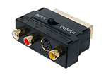 Gold plated switchable scart adaptor